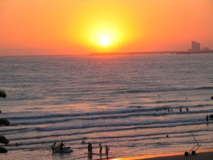 La grande plage à Agadir