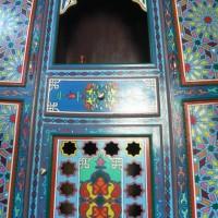 Meuble dans la chambre du Pacha à Dar Dzahra Taroudant