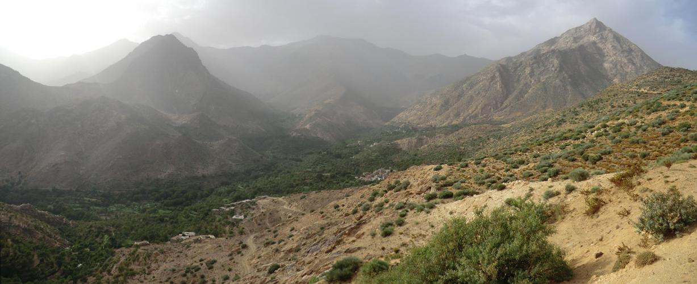 Au dessus d'IMAMARN 4km 400mDeDenivelé Vers TIGOUGA